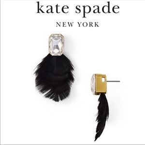 Kate Spade In Full Feather Stud Earrings